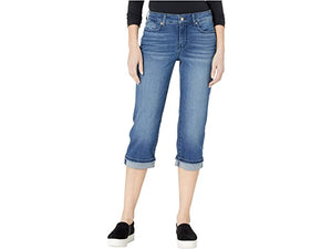 NYDJ Marilyn Crop Jeans with Frayed Cuffs in Meloy
