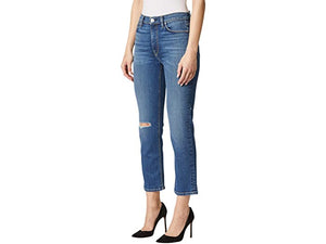 Hudson Jeans Barbara High-Waist Crop Straight in Destructed Surpass