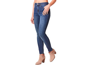 Nicole Miller New York Soho High-Rise Skinny Repreve Denim in Dark Blue