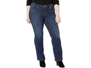 Silver Jeans Co. Plus Size Avery High-Rise Curvy Fit Slim Boot Jeans W94627SDK409