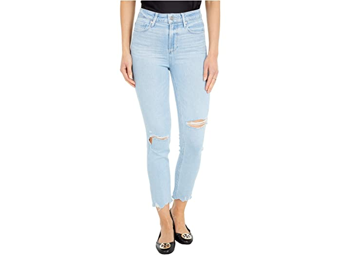 Paige Hoxton Slim Crop in Sunkissed Destructed w/ Worn Away Hem