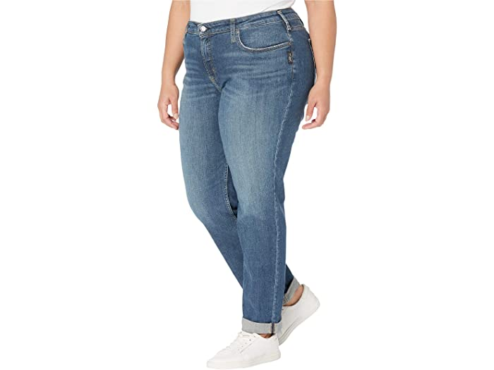 Silver Jeans Co. Plus Size Beau Mid-Rise Relaxed Skinny Slim Leg Jeans W27348SJL383