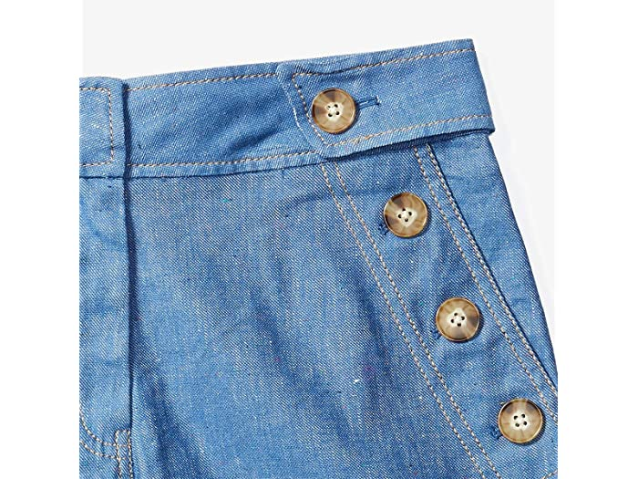 Derek Lam 10 Crosby Shorts w/ Button Detail