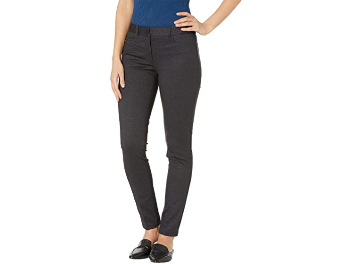Anne Klein Melange Twill Fly Front Leggings