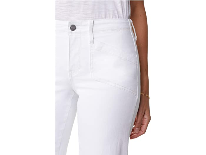 NYDJ Wide Leg Capri Jeans with Utility Pockets in Optic White