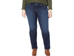 Silver Jeans Co. Plus Size Suki Mid-Rise Curvy Fit Straight Leg Jeans W93413EPX407
