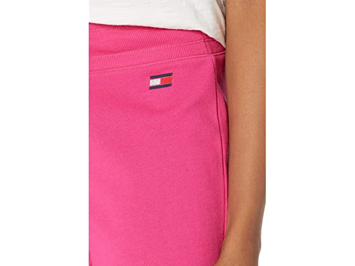 Tommy Hilfiger Sport Roll Tab Shorts with Embroidered Flag