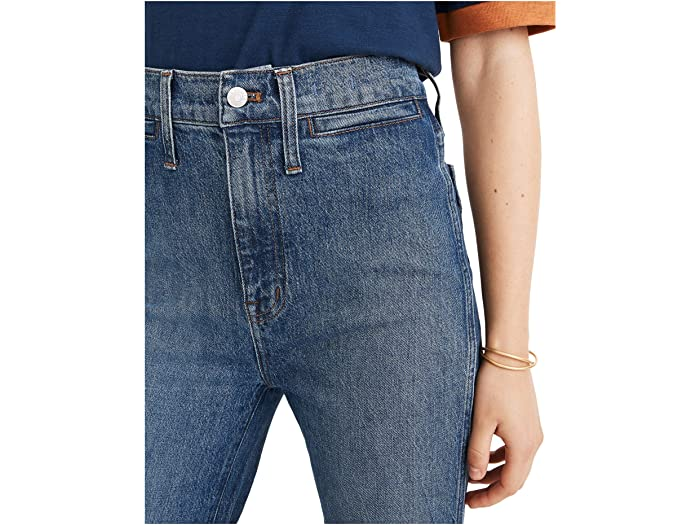 Madewell 11'' High-Rise Flare Jeans in Mersey Wash: Welt Pocket Edition