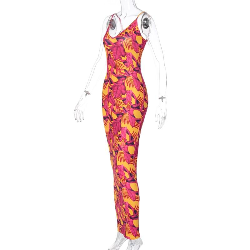 Sexy Sleeveless Bodycon Club Outfits Streetwear Maxi Dress