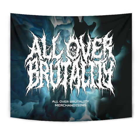 Official All Over Brutality Clouds Tapestry (Blue)