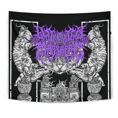 Officially Licensed Litterbox Massacre Tapestry (Purr-ple)