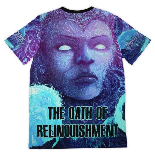 Officially Licensed Coprocephalic The Oath Of Relinquishment All Over Tee