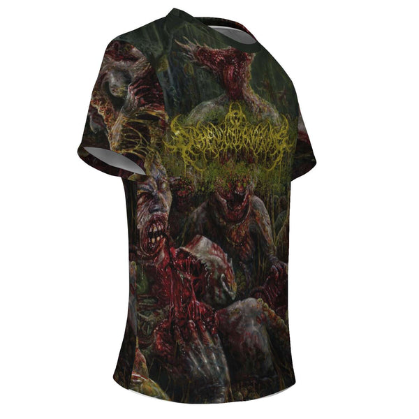 Officially Licensed Diphenylchloroarsine - Post Apocalyptic Human Annihilation All Over Tee