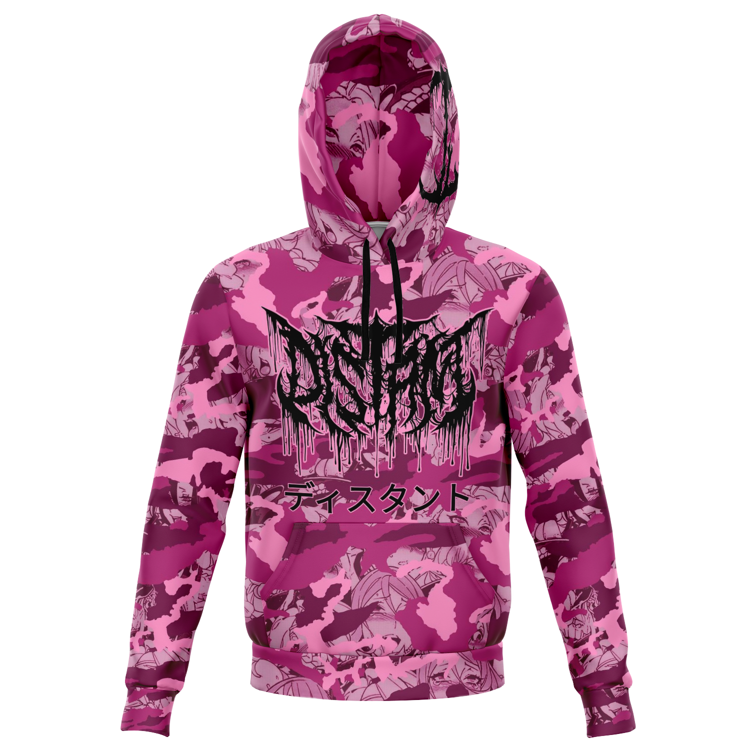 Officially Licensed Distant 'Pink Anime Camo' All Over Hoodie