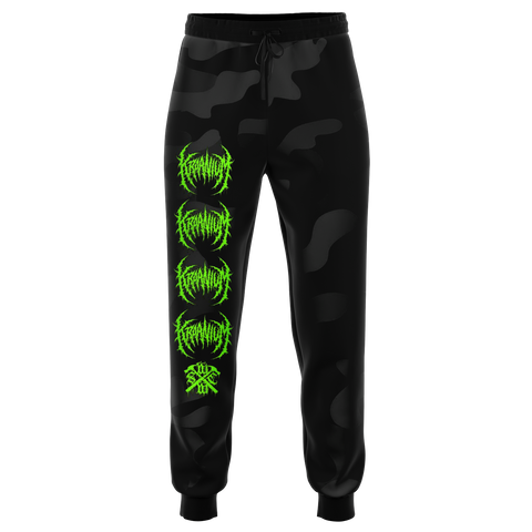 "Officially Licensed Kraanium ""Black Camo"" Joggers"