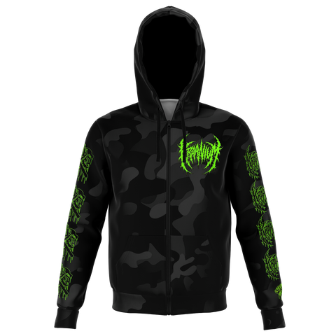 "Officially Licensed Kraanium ""Black Camo"" Zip-Up"