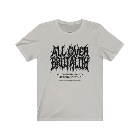 Official All Over Brutality Logo Tee (Silver)