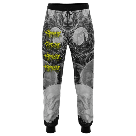 Officially Licensed Coprocephalic The Oath Of Relinquishment Joggers (Grayscale)