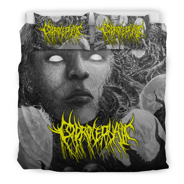 Officially Licensed Coprocephalic The Oath Of Relinquishment Bed Set (Grayscale)