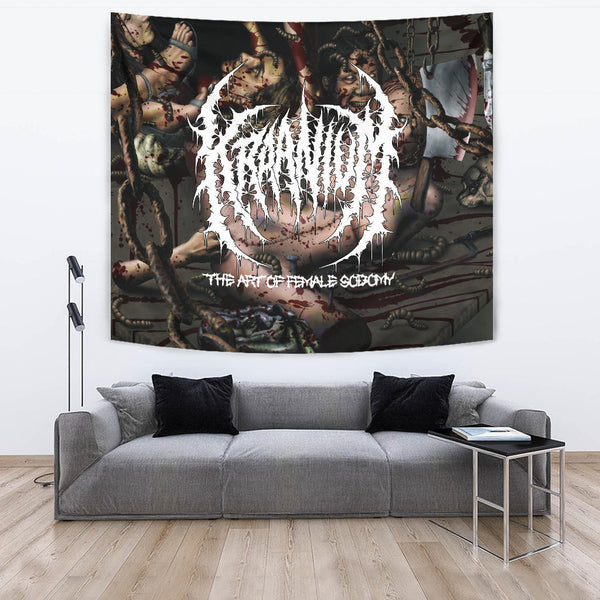 Officially Licensed Kraanium - The Art Of Female $odomy Tapestry