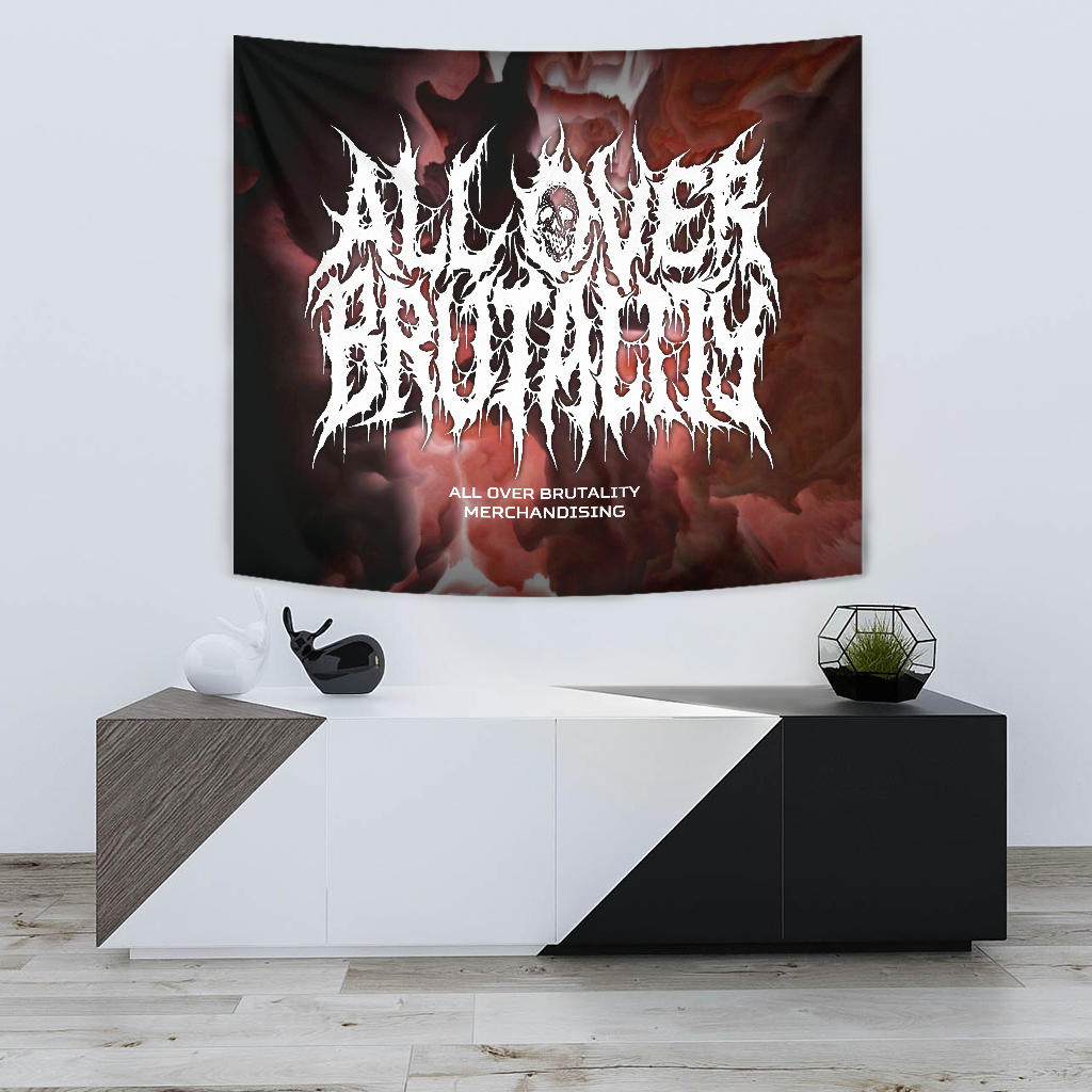 Official All Over Brutality Clouds Tapestry (Red)