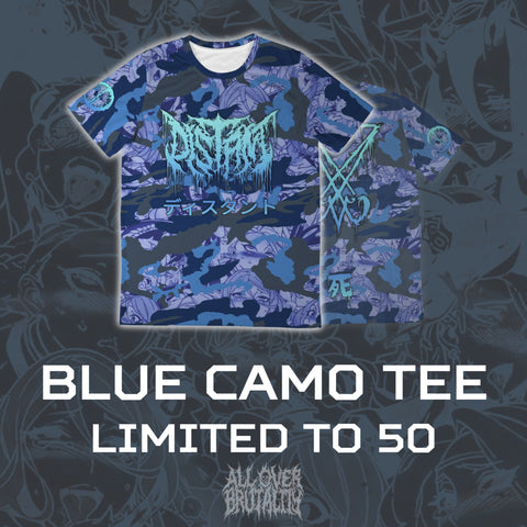 *LIMITED EDITION* Officially Licensed Distant 'Blue Anime Camo' All Over Tee