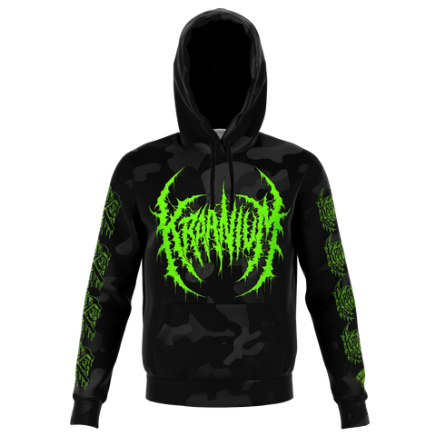 "Officially Licensed Kraanium ""Black Camo"" Hoodie (Green Variant)"