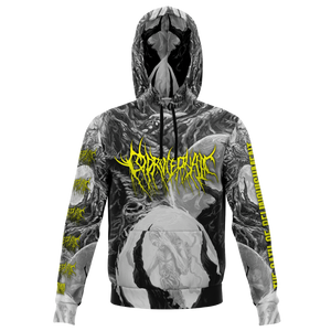 Officially Licensed Coprocephalic The Oath Of Relinquishment Hoodie (Grayscale)