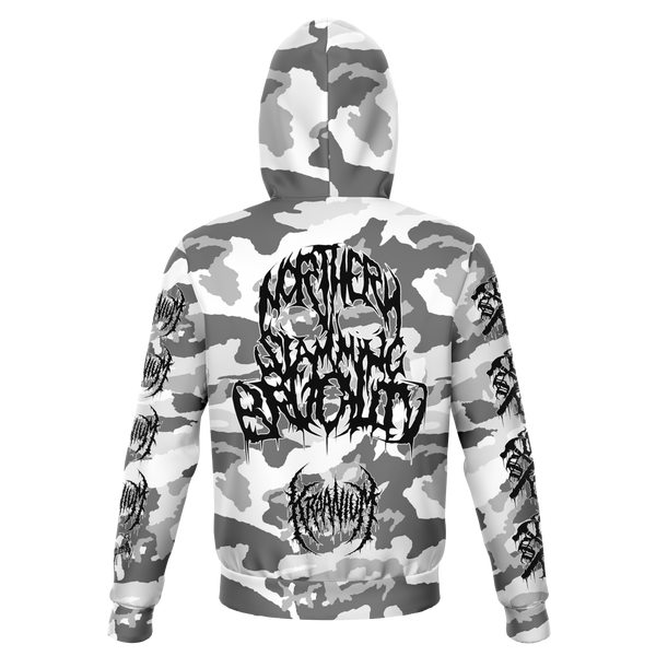 "Officially Licensed Kraanium ""Snow Camo"" Hoodie"