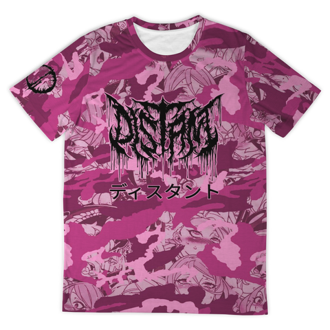 Officially Licensed Distant 'Pink Anime Camo' All Over Tee