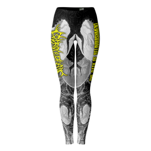 Officially Licensed Coprocephalic The Oath Of Relinquishment Leggings (Grayscale)