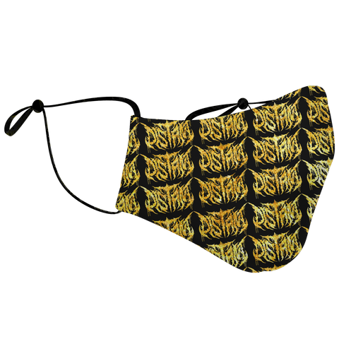 Officially Licensed Distant Gold Logo Pattern Mask