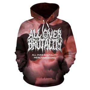 Official All Over Brutality Clouds Hoodie (Red)