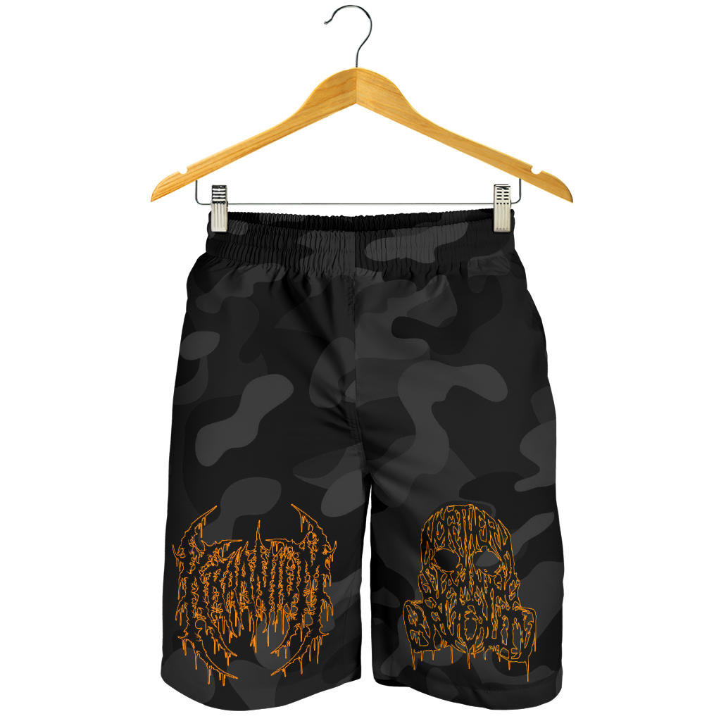 Officially Licensed Kraanium Camo Shorts (Black)