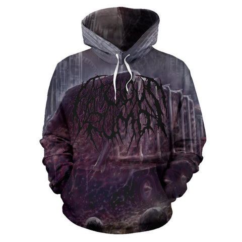 Officially Licensed Fatuous Rump - Disposing Slobs Of Corporal Fatberg All Over Hoodie