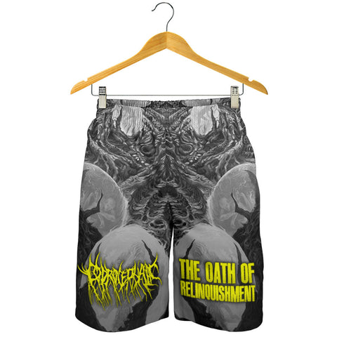 Officially Licensed Coprocephalic The Oath Of Relinquishment Shorts (Grayscale)