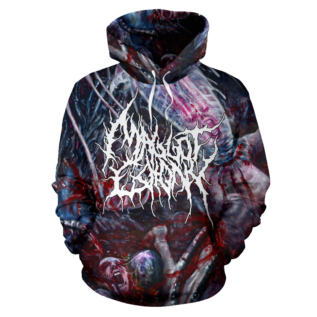 Officially Licensed Maggot Colony - Perpetuating The Viral Infestation All Over Hoodie