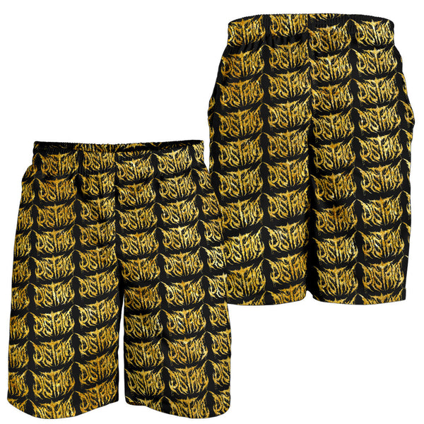 Officially Licensed Distant Gold Logo Pattern Shorts