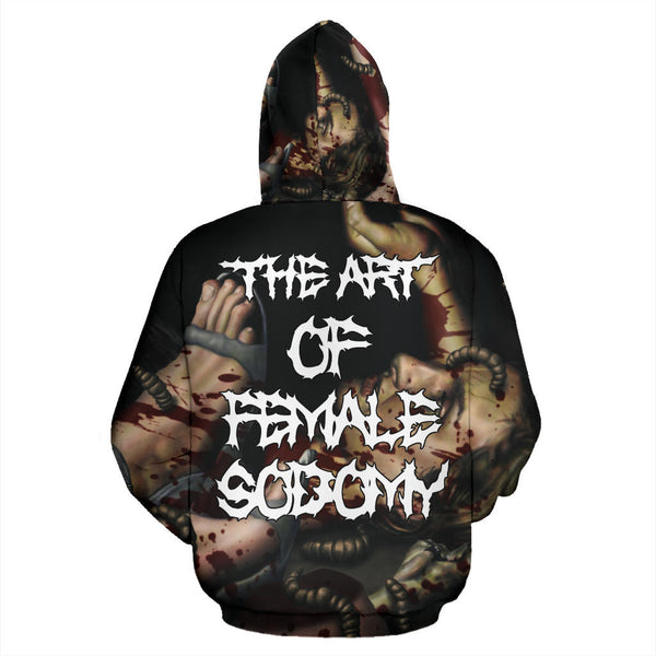 Officially Licensed Kraanium - The Art Of Female $odomy All Over Hoodie