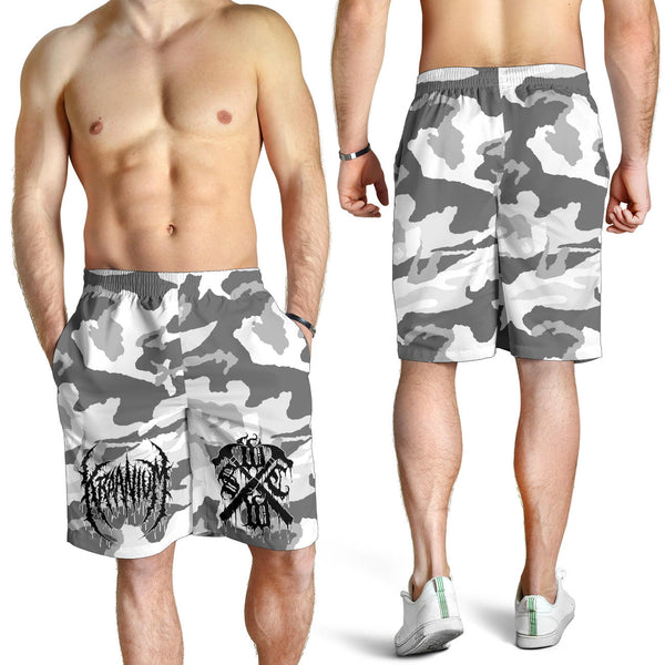 "Officially Licensed Kraanium ""Snow Camo"" Shorts"