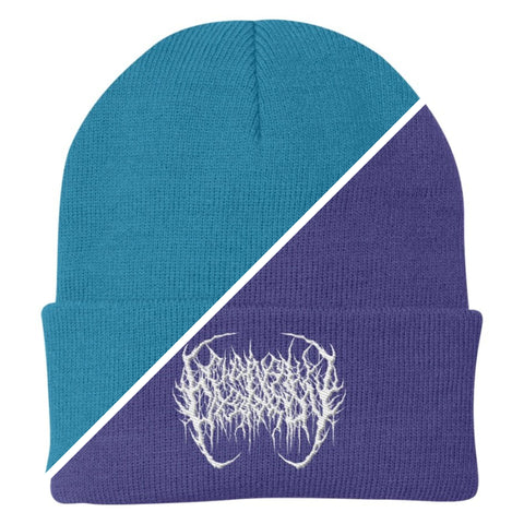 Officially Licensed Chainsaw Castration Blue & Purple Beanies