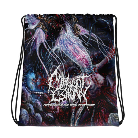 Officially Licensed Maggot Colony - Perpetuating The Viral Infestation Drawstring bag