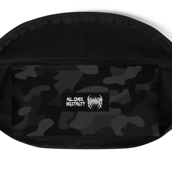 Officially Licensed Kraanium Camo Fanny Pack (Black)
