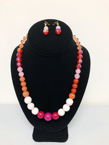 Tropical Beat Beaded Necklace Set