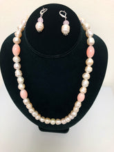 Load image into Gallery viewer, Pearl and Pink Necklace Set