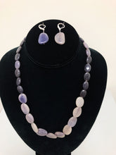 Load image into Gallery viewer, Lavender Stone Necklace Set