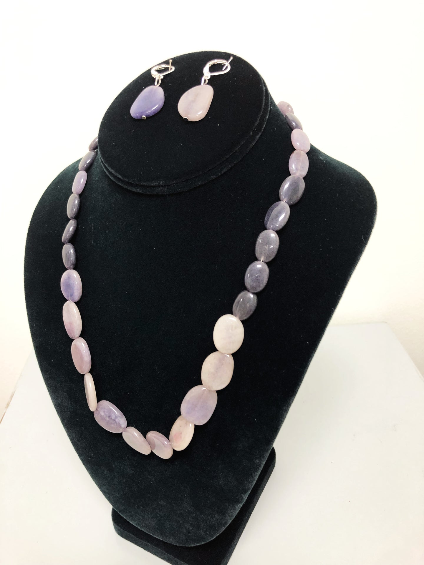 Lavender Stone Necklace Set