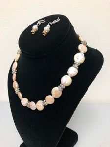 Pearl Gem Necklace Set