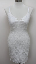 Load image into Gallery viewer, Romantic Crochet Mini Dress (White)