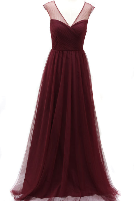 The Ella Tulle Maxi Bridesmaid Dress